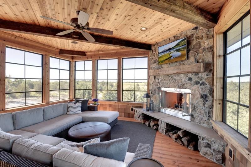 Wohnzimmer Modern Kamin