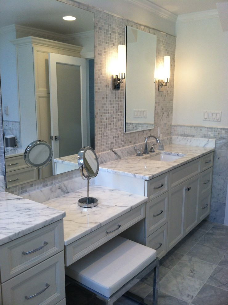 Fabulous Carrera Marble Bathrooms To Be Awestruck By