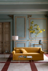 Modern Living Room With Yellow Walls. 20 charming blue and