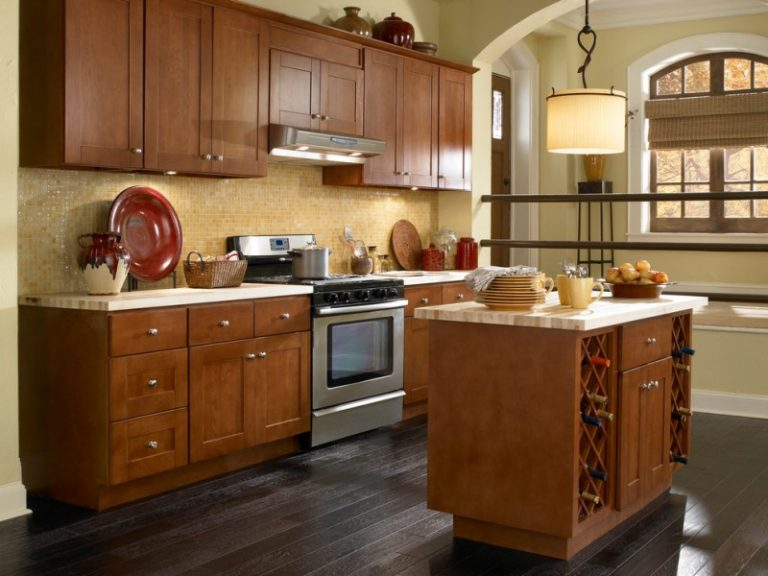 Fancy and Natural Cherry Kitchen Cabinets  Decohoms