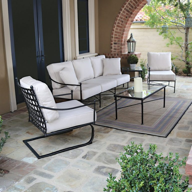 simple decoration of small living room rattan side tables stylish patio furniture seattle for outdoor spaces ...