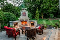 Outdoor Corner Fireplace, a Great Warm Spot Outside Your ...