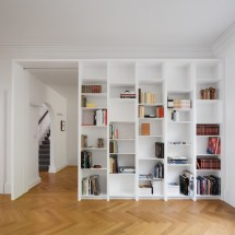 Home Library Shelving Corner