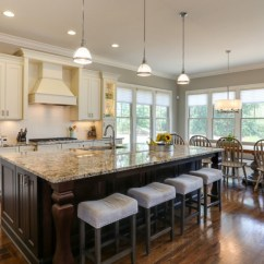 Long Kitchen Islands Eat In Table Fabulously Cool Large With Seating And ...