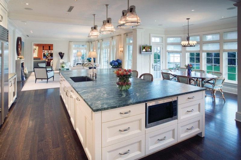 Fabulously Cool Large Kitchen Islands with Seating and