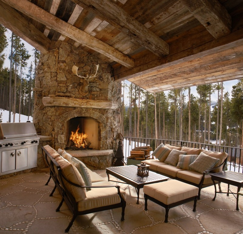 Outdoor Corner Fireplace a Great Warm Spot Outside Your House  Decohoms