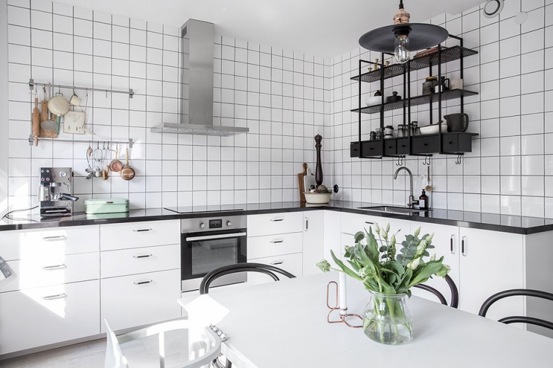 metal kitchen shelves desks dislike mainstream shelving these tens industrial black unit made of lightweight white ceramic tiles walls gloss