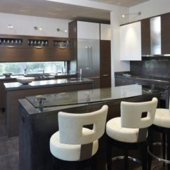 Modern Kitchen Stools Pantry Shelving Systems Diverse Beautiful Ideas On Mid Century Bar In Brown Palette With Island Glass Top White Round Leather