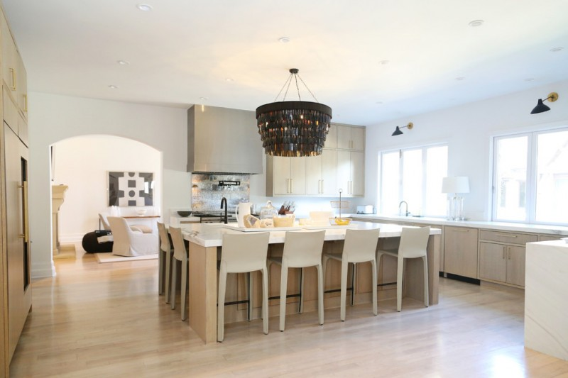 white kitchen island with seating cabinets to go big is not beautiful, it's amazing: seen in the ...