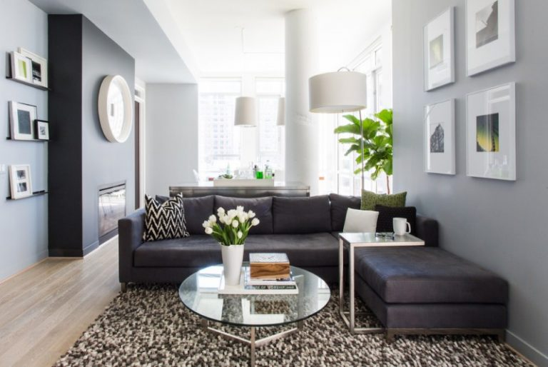living rooms with dark gray walls interior design of room in indian style couch ideas for appealing decohoms contemporary open concept a ribbon fireplace light hardwood floors and