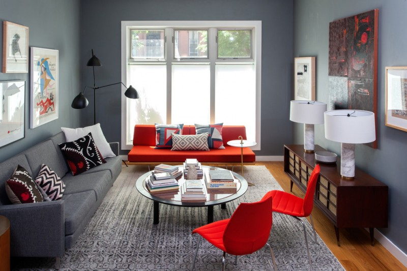 color combination living room furniture arrangements ideas wonderful schemes to beautify your home decohoms red and gray scheme serge mouille three arm rotating floor lamp