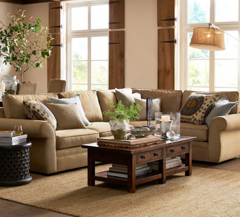 pottery barn pictures of living rooms teak room furniture sets choosing these nifty ideas to make your chelsea sectional floor task lamp brenchwright coffee table with rustic mahogany stain