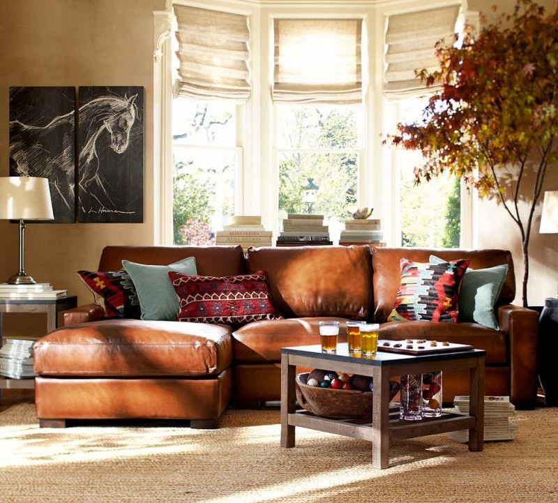 burnt orange sofa and loveseat cheapest sofas uk choosing these nifty pottery barn living room ideas to ...