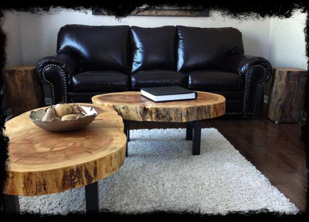 Fascinating and Creative Tree Trunk Table Ideas for Indoor