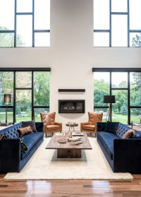 Maximizing The Beauty of Your Living Room Using Blue Sofa ...