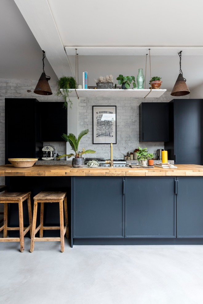 Great Inspirations of Small Kitchen With Dark Cabinet
