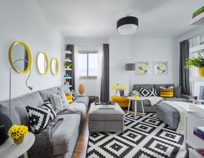Ten Ideas of Pleasant Yellow And Grey Decoration  Decohoms