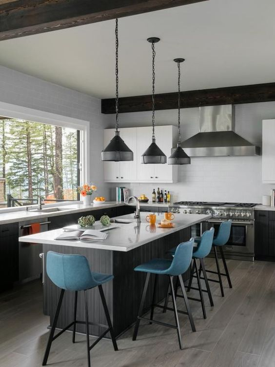 Looking Up Dreamy Kitchens With Large Windows For 2019