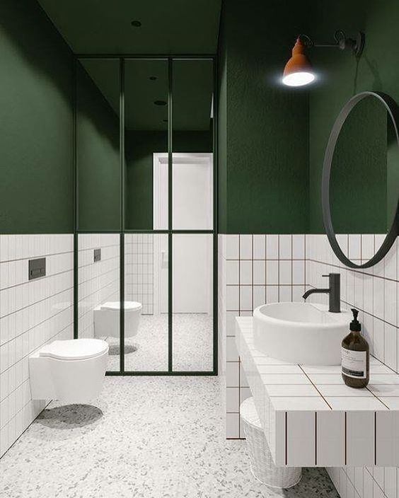 The Pretty and Gorgeous Modern Green Bathrooms  Decohoms