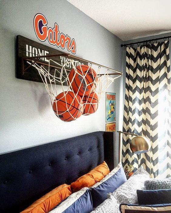 Baloncesto habitaciones juveniles Decoracin infantil