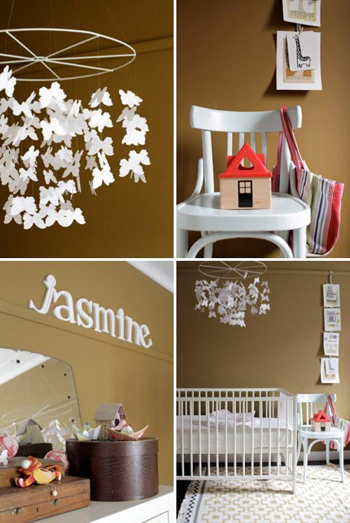 Pintar la habitacin del beb en tonos marrones