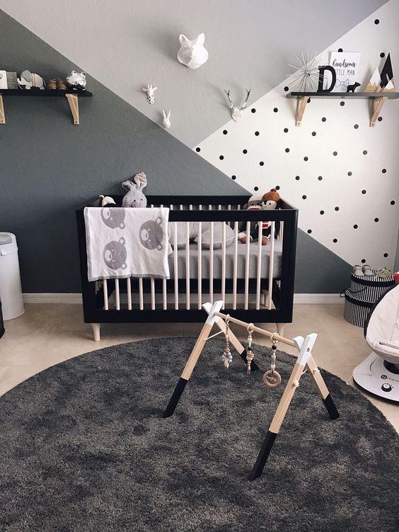 Dormitorios en gris para bebs
