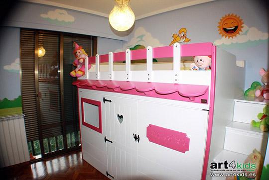 Cama infantil con forma de casita  Ventajas