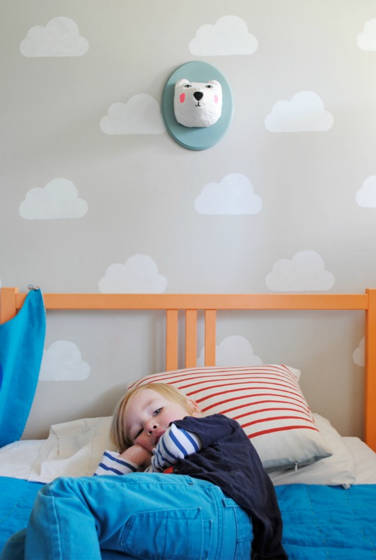 Decorar la pared infantil con nubes  DecoideasNet