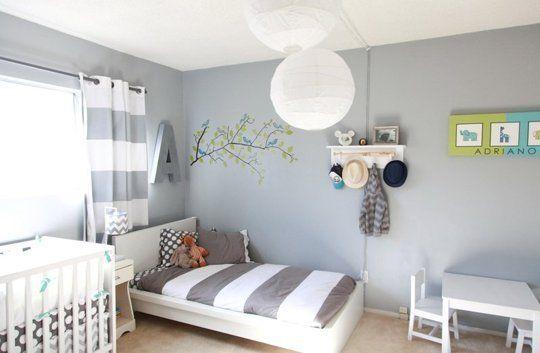 Habitacin compartida con cama y cuna