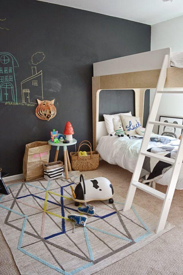 Habitaciones infantiles con pintura de pizarra  DecoideasNet