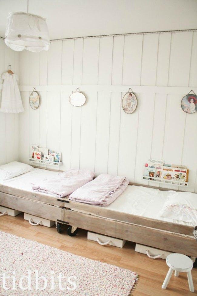 Dormitorios infantiles con paredes de madera