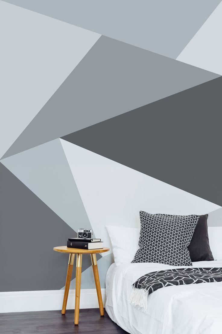 10 Habitaciones juveniles con paredes geometricas