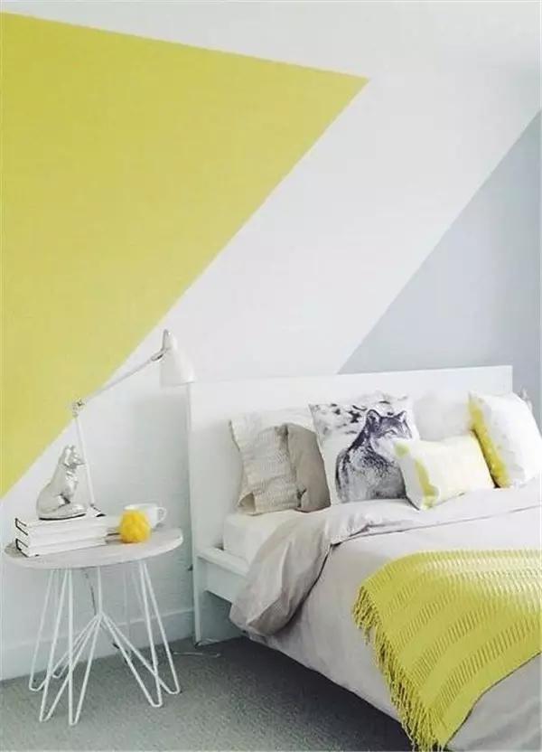10 Habitaciones juveniles con paredes geomtricas