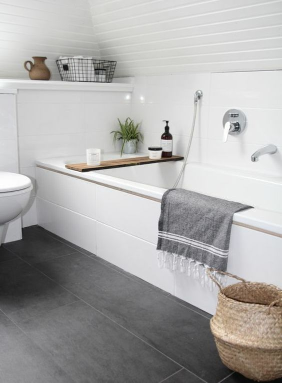 de sol de style pour salle de bains