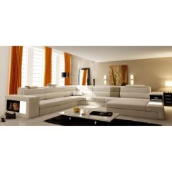 Leather Chesterfield Sofa Beige Sofas And Sectionals Reviews Deco In Paris - Canape Panoramique En Cuir Angle ...