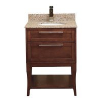 AURA SOLID WOOD BATHROOM VANITY