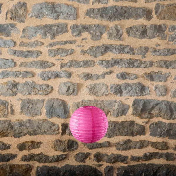 Location-Boule-chinoise-20cm-rose-cerise-9exemplaires