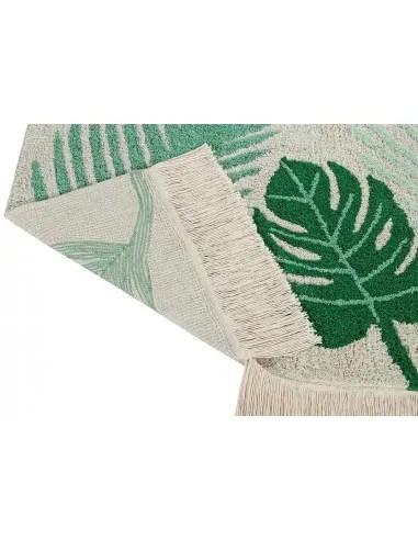 tapis enfant tropical vert