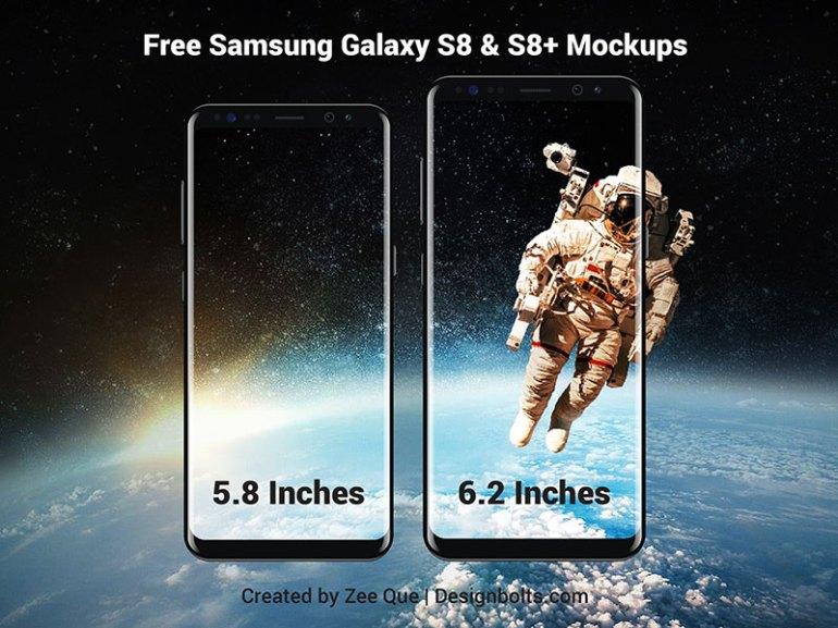 Free Samsung Galaxy S8 & S8 Plus Mockup Vector Files