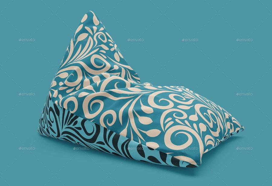Metallic coffee bag mockup half side view in bag sack mockups. 20 Fantastic Bean Bag Psd Mockup Templates Decolore Net