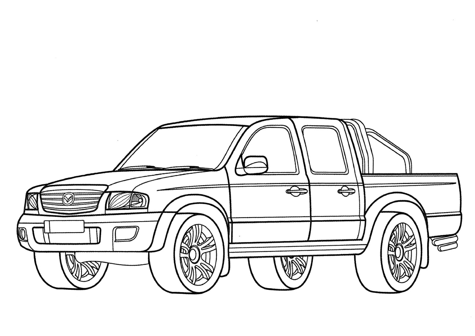 Mazda Coloring Pages Sketch Coloring Page