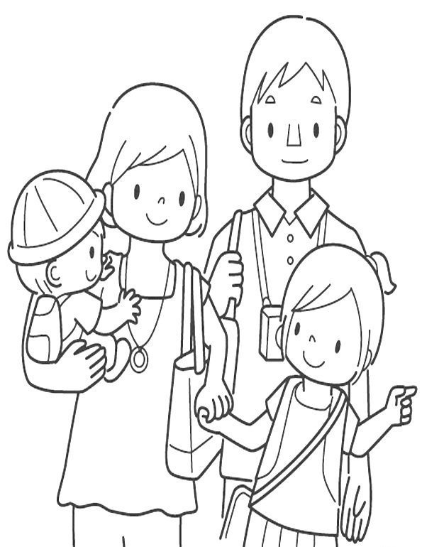 padres de familia para colorear padres de familia para