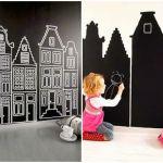 Vinilos decorativos de pizarra para niños