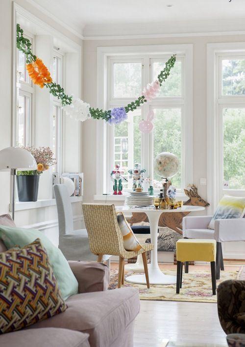 Ambiente fresco y estimulante con toques de color