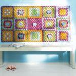 Colorido tapiz de crochet para decorar