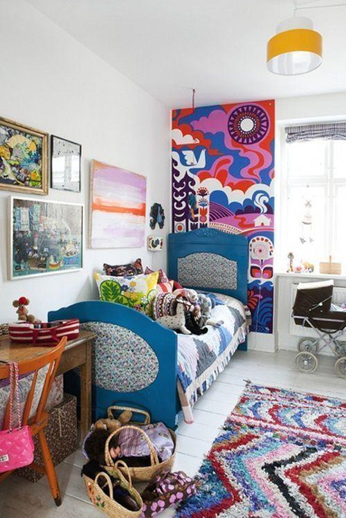 habitaciones de niños con decoracion vintage