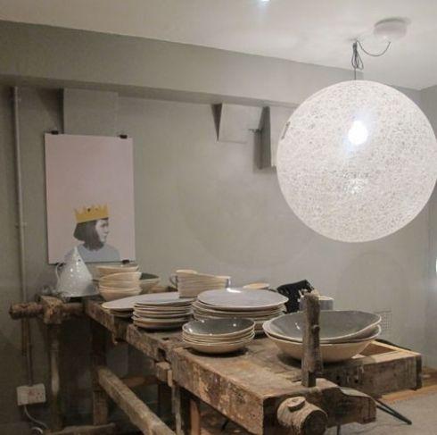 como hacer una lampara con cuerda para decorar moderno 2
