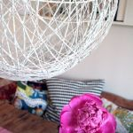 como hacer una lampara con cuerda para decoracion casa