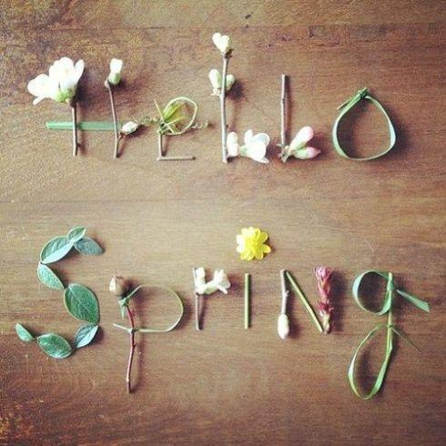 Decoración efímera para tu casa Hello Spring