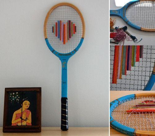 Ideas para reciclar una raqueta decorando 1
